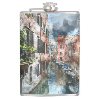 Venice Italy Canal Flask