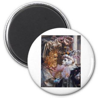 Venice Italy Carnival Mask ~ Italian Festival 6 Cm Round Magnet