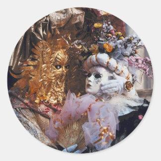 Venice Italy Carnival Mask ~ Italian Festival Round Sticker
