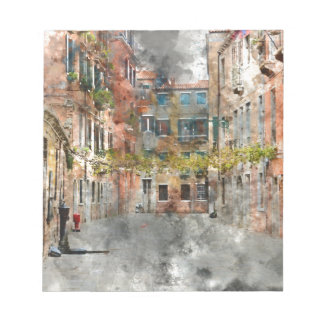 Venice Italy Colorful Buildings and Canals Notepad