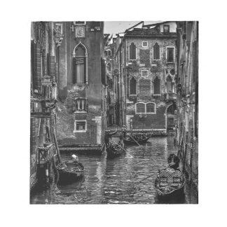 Venice italy gondola boat canal notepad