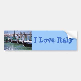 Venice Italy Gondola Boats ~ Italian Romance Bumper Sticker