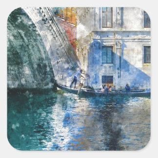 Venice Italy Gondola Grand Canal Square Sticker