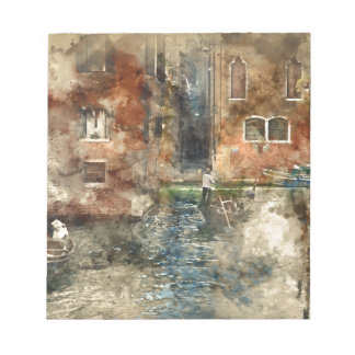 Venice Italy Gondola in the Canals Notepad