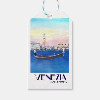 Venice Italy Gondola on Grand Canal with San Marco