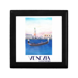 Venice Italy Gondola on Grand Canal with San Marco Gift Box