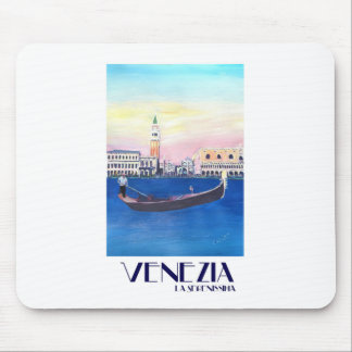 Venice Italy Gondola on Grand Canal with San Marco Mouse Pad