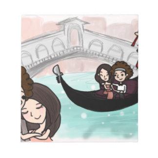 Venice Italy Gondola Ride Notepad