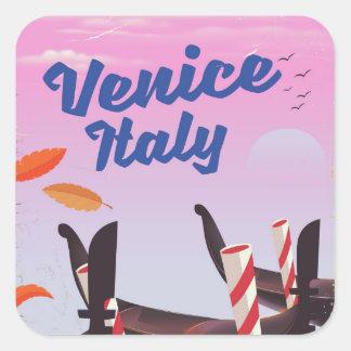 Venice Italy Gondola vacation print. Square Sticker