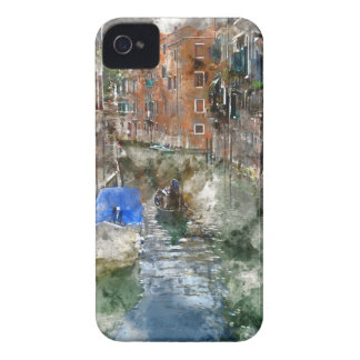 Venice Italy Gondolas and Colorful Buildings iPhone 4 Case