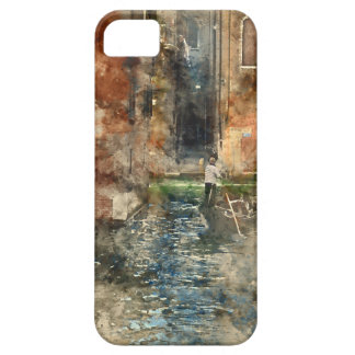 Venice Italy Gondolas in the Canal iPhone 5 Case