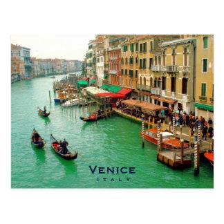 Venice, Italy - Gondolas On Grand Canal Postcard