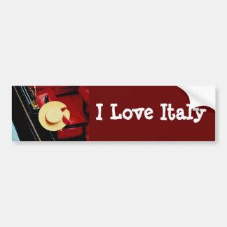 Venice Italy Gondoliers Hat ~ Italian Romance Bumper Sticker