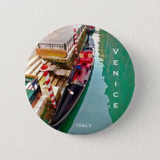 Venice, Italy (IT) - Gondola Station 6 Cm Round Badge