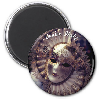 Venice, Italy (IT) - Mysterious Carnival Mask Magnet