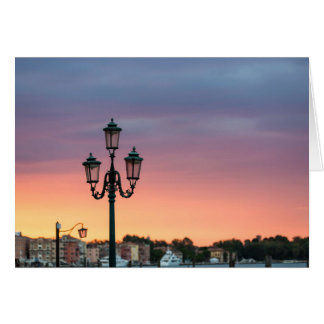Venice Italy Lamp Greeting Card