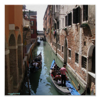 Venice Italy photography poster