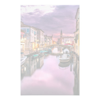 Venice, Italy Scenic Canal & Venetian Architecture Stationery Paper