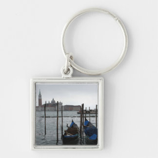 Venice Italy Silver-Colored Square Key Ring
