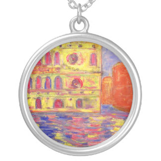 venice italy silver plated necklace