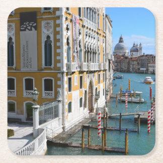 Venice Italy Square Paper Coaster