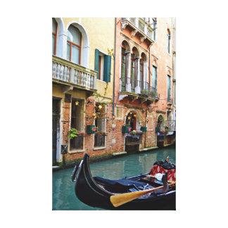 Venice Italy Street Canal & Gondola Canvas Print