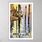 Venice Italy / Venise Et Le Lido Travel Poster