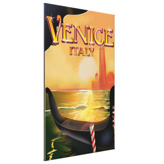 Venice, Italy vintage travel poster Gallery Wrapped Canvas