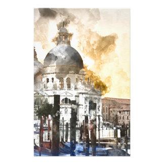 Venice Italy Watercolor Custom Stationery
