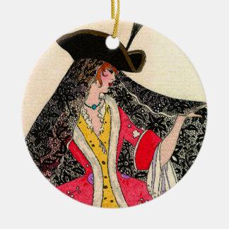 Venice lady Circle Ornament