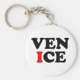 VENICE LOGO BASIC ROUND BUTTON KEY RING