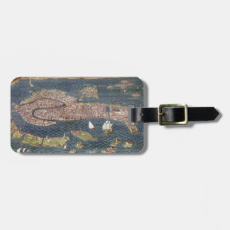 VENICE: MAP, 16TH CENTURY LUGGAGE TAG