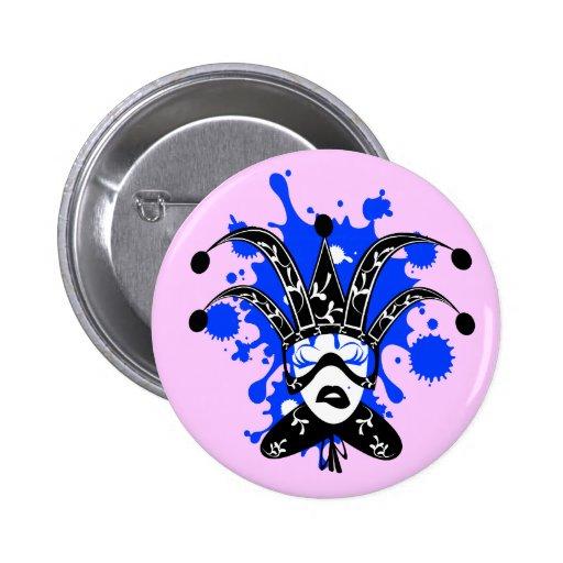 Venice mask lady button