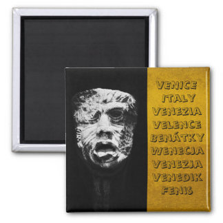 Venice, Masks Artwork No.2 Italy (Fridge Magnet) Square Magnet