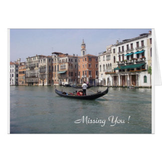 Venice Missing You - Greeting Card