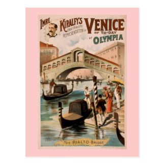 """Venice of Today"" Vintage Theater Postcard"