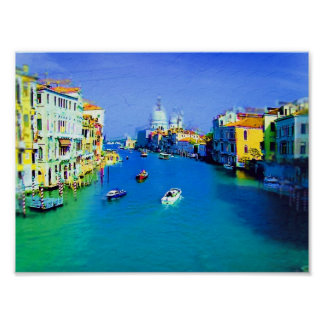 Venice painting poster