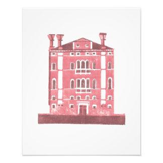 Venice palace, from an original linocut photograph