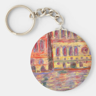 venice palazzo and colourful light basic round button key ring
