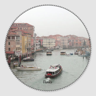 Venice: Picturesque Venice Classic Round Sticker