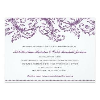 Venice (Purple) Wedding Invitation