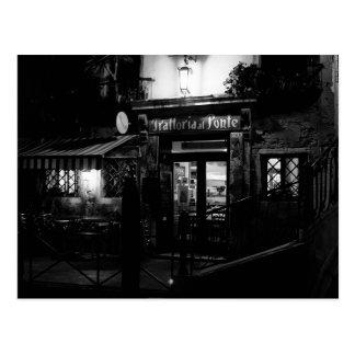 Venice Restaurant at Night Postcard