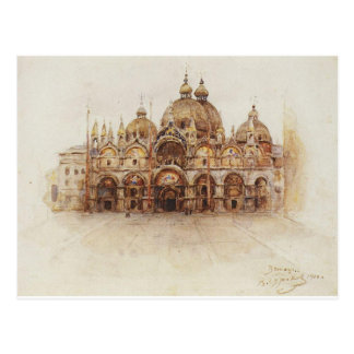 Venice. Saint Mark's Basilica. by Vasily Surikov Postcard