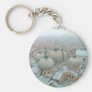 Venice San Marco cathedral domed roof Basic Round Button Key Ring