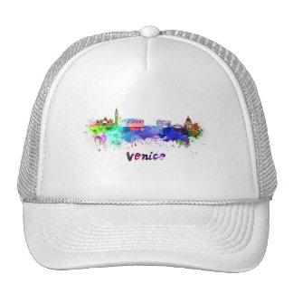 Venice skyline in watercolor cap