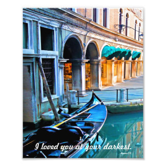 Venice Special Alley with Love Quote Photograph