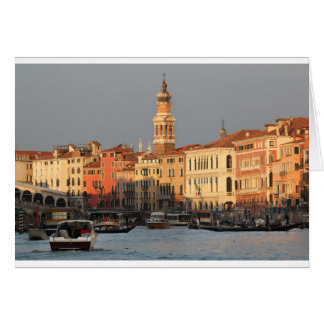 Venice Sunset at the Rialtro Bridge Card