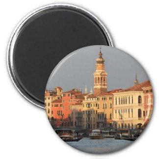 Venice Sunset at the Rialtro Bridge Magnet