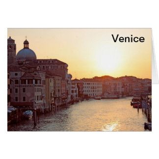 Venice,Sunset on the canal grande Greeting Card