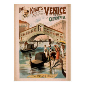 Venice, The Bride of the Sea, 'The Rialto Bridge' Postcard